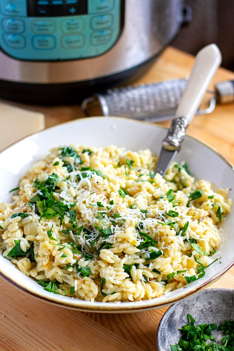 Instant Pot Orzo With Parmesan, Lemon & Spinach