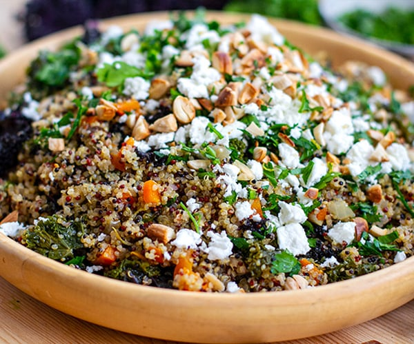 Instant Pot kale and quinoa pilaf