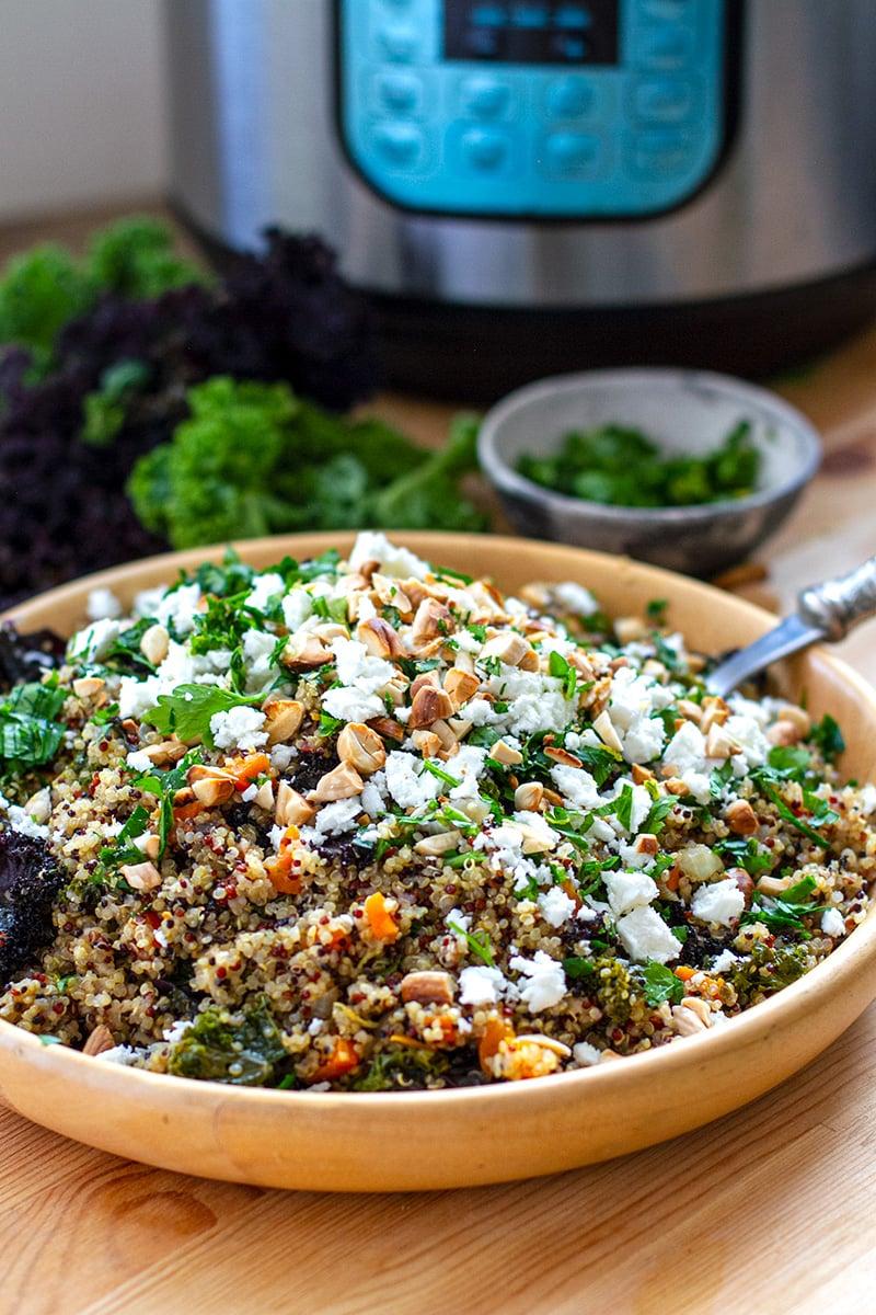 Kale & Quinoa Pilaf - Instant Pot Recipe
