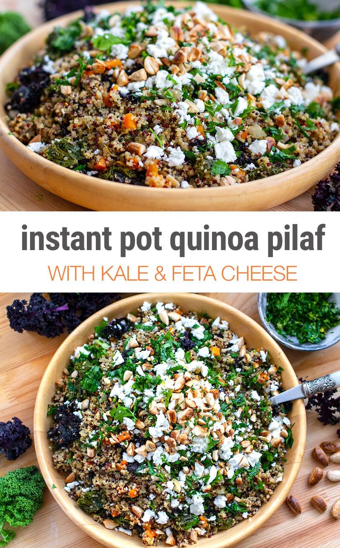 Instant Pot Kale & Quinoa Pilaf Recipe