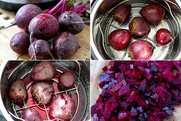 Meal prep pressure cooker beets