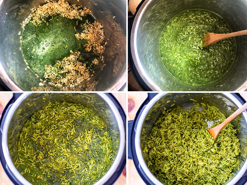 How to cook spinach rice with Instant Pot