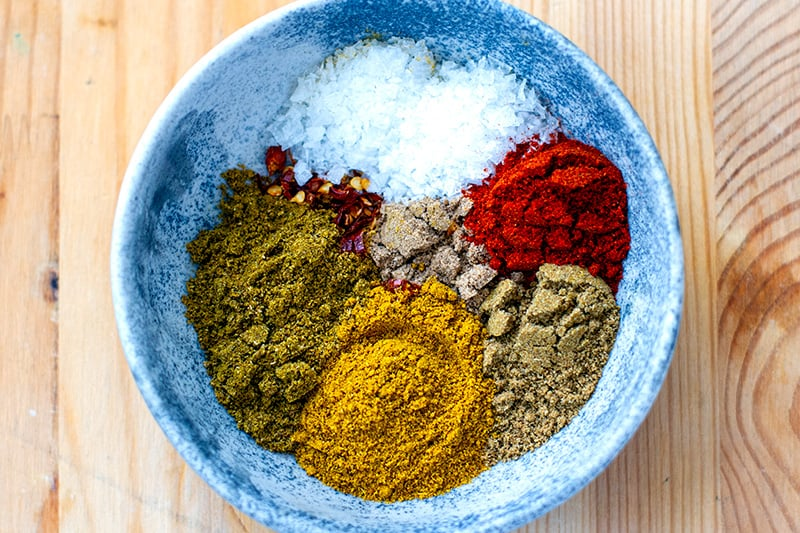 Spices for Indian curry