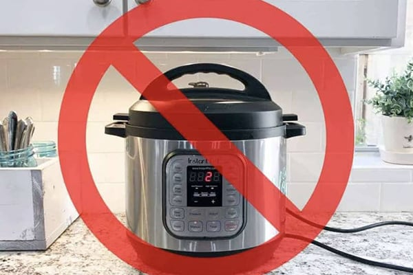 instant pot avoid under cabinets damage
