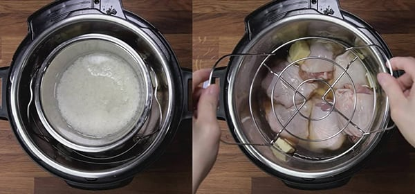 instant pot in pot chicken rice