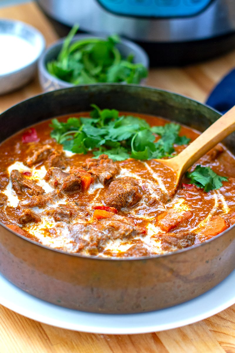 Indian Instant Pot Lamb Curry With Coconut & Tomatoes
