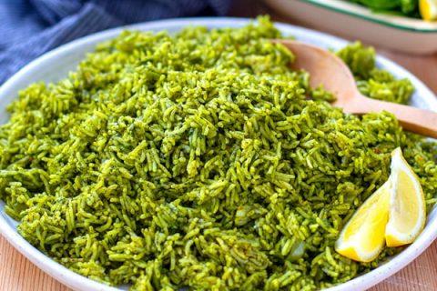 Instant Pot Spinach Rice Recipe