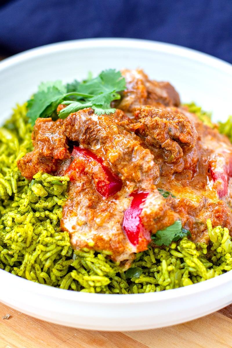 Instant Pot Indian Lamb Curry & Rice