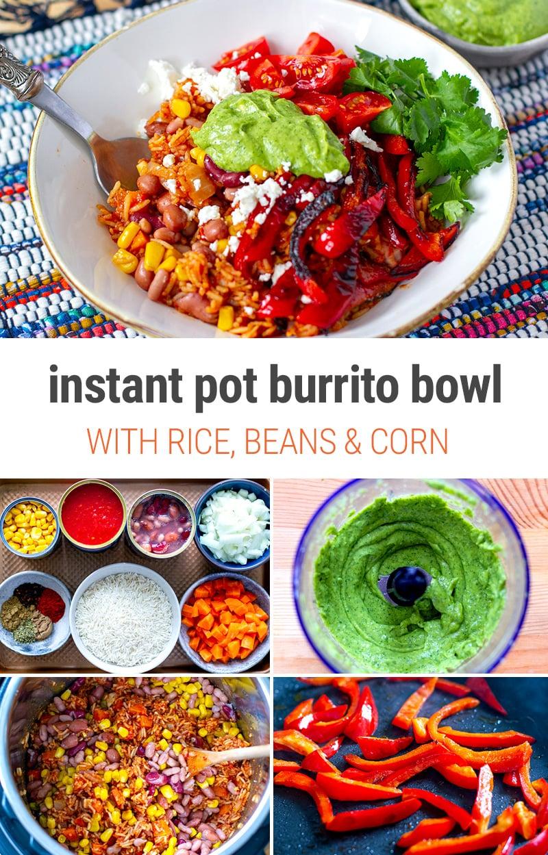 Tex-Mex Instant Pot Burrito Bowl (Vegetarian, Gluten-Free)