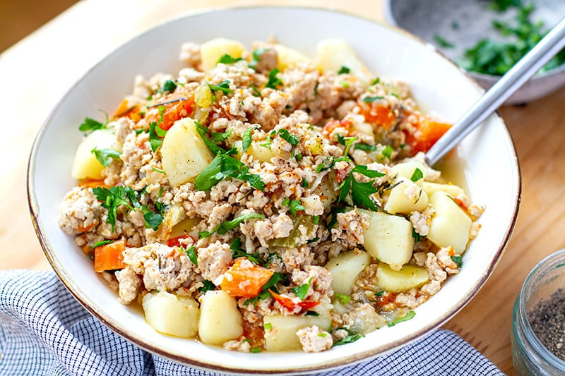 Instant Pot Ground Turkey & Potato Stew