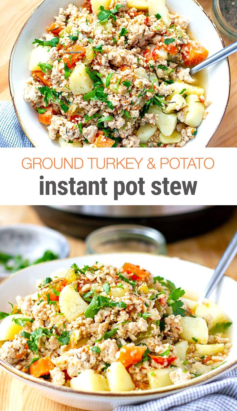 Instant Pot Ground Turkey Stew