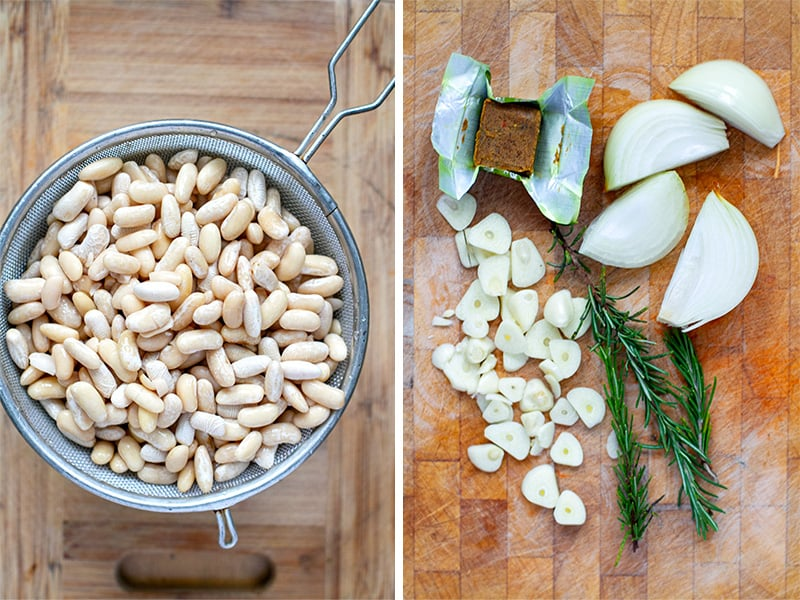 Italian white beans with rosemary, garlic and olive oil