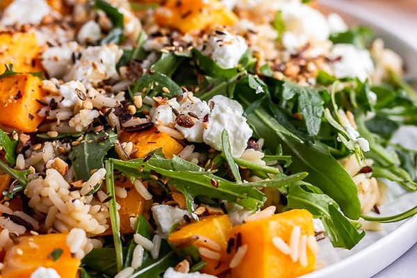 Butternut Squash Salad with Wild Rice