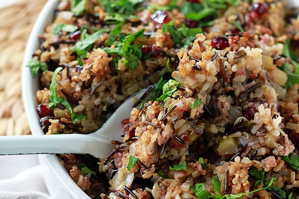 Herbed Wild Rice & Quinoa Stuffing (Vegetarian)