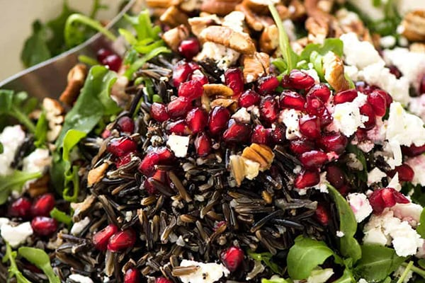 Wild Rice Salad With Pomegranate