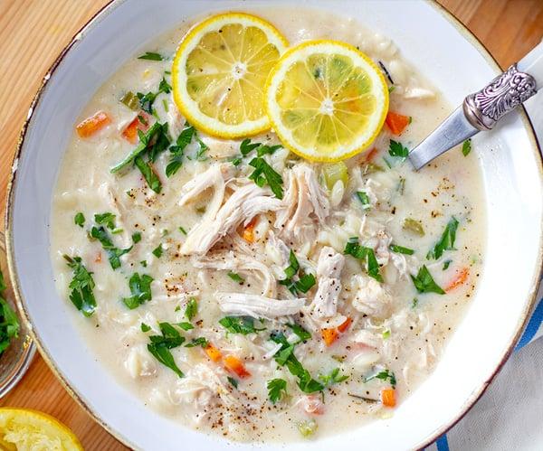 Instant Pot Chicken Lemon Soup (Greek Agolemono)