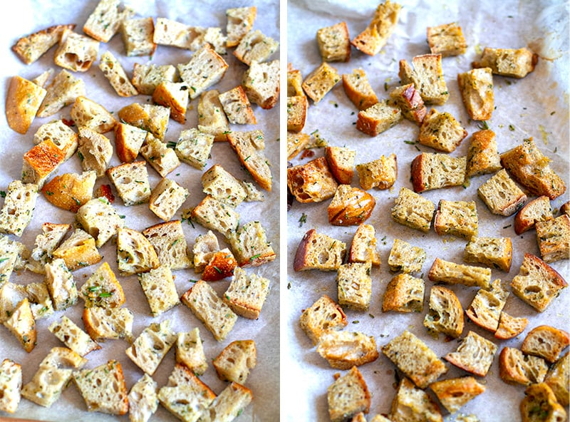 How to oven bake garlic herb croutons