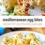 Sous Vide Egg Bites in Instant Pot Mediterranean-Style