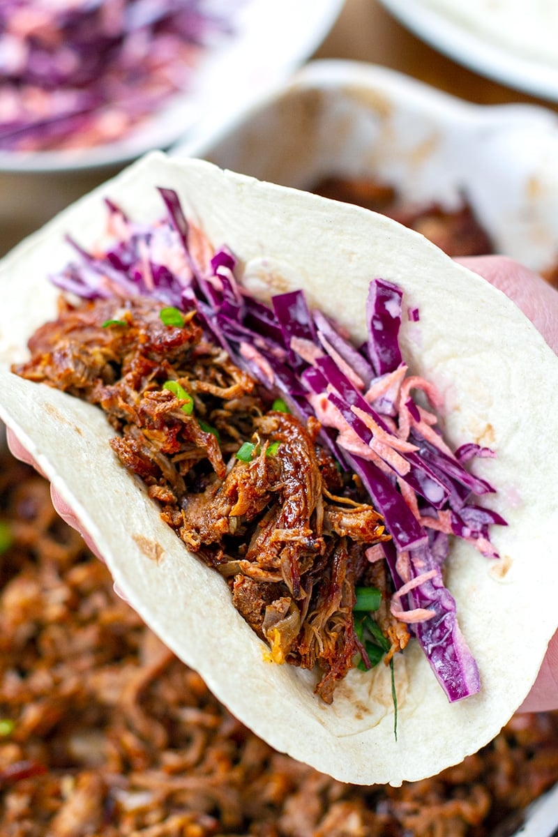 Pulled Pork Tacos With Coleslaw