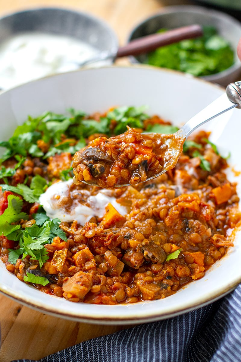 Instant Pot Lentil Stew (Vegan, Gluten-Free)