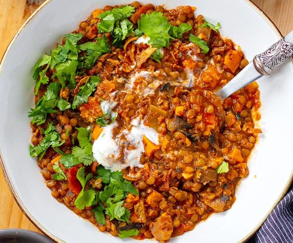Smoky Instant Pot Lentil Stew (Vegan, Gluten-Free)