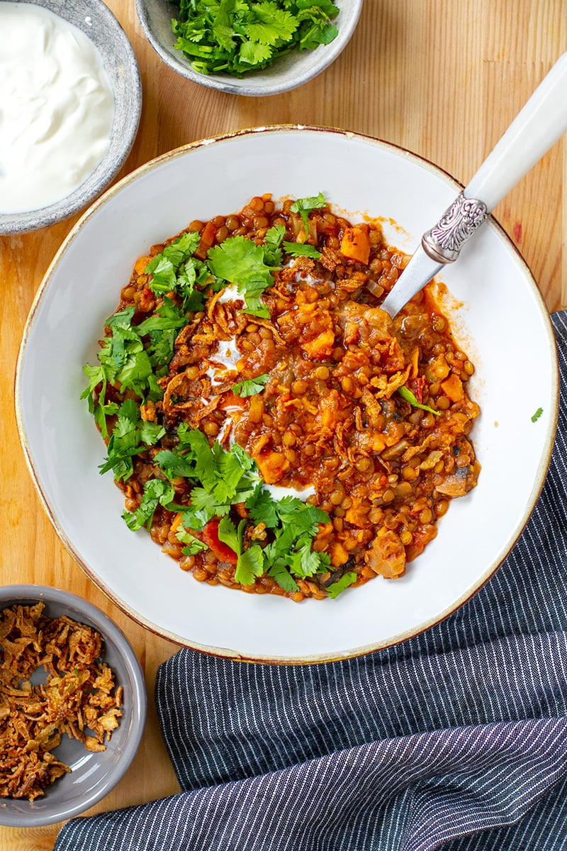 Vegan lentil stew (Instant Pot Recipe)