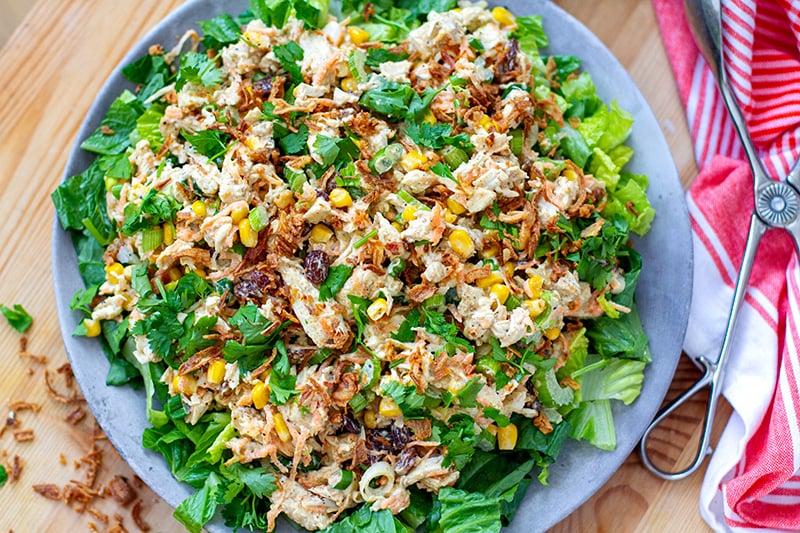 Creamy curry chicken salad