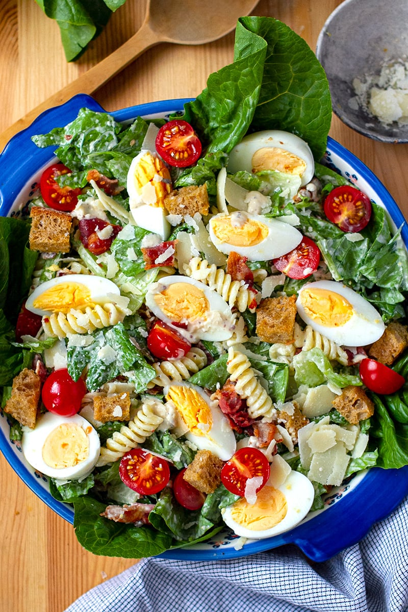 Caesar Pasta Salad Recipe (Instant Pot & Stovetop)