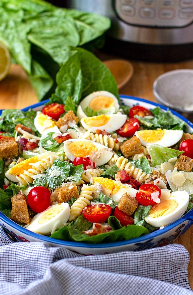 Instant Pot Caesar Pasta Salad Recipe