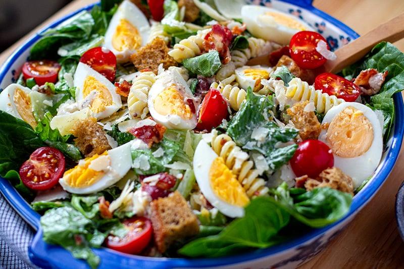 Creamy Caesar Pasta Salad