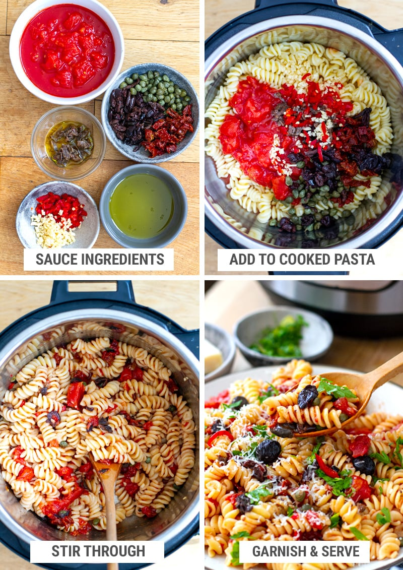Pasta Puttanesca Sauce No Cooking Required