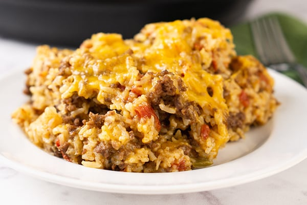 Cheesy Ground Beef & Rice
