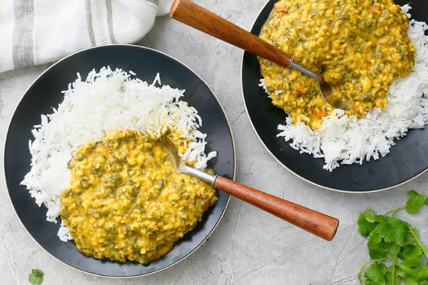 Instant Pot Dal with Lots of Kale