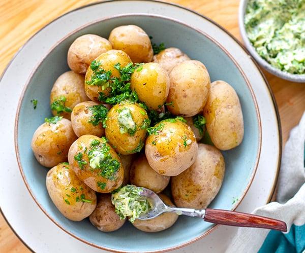 Instant Pot Salt Potatoes With Herb Butter