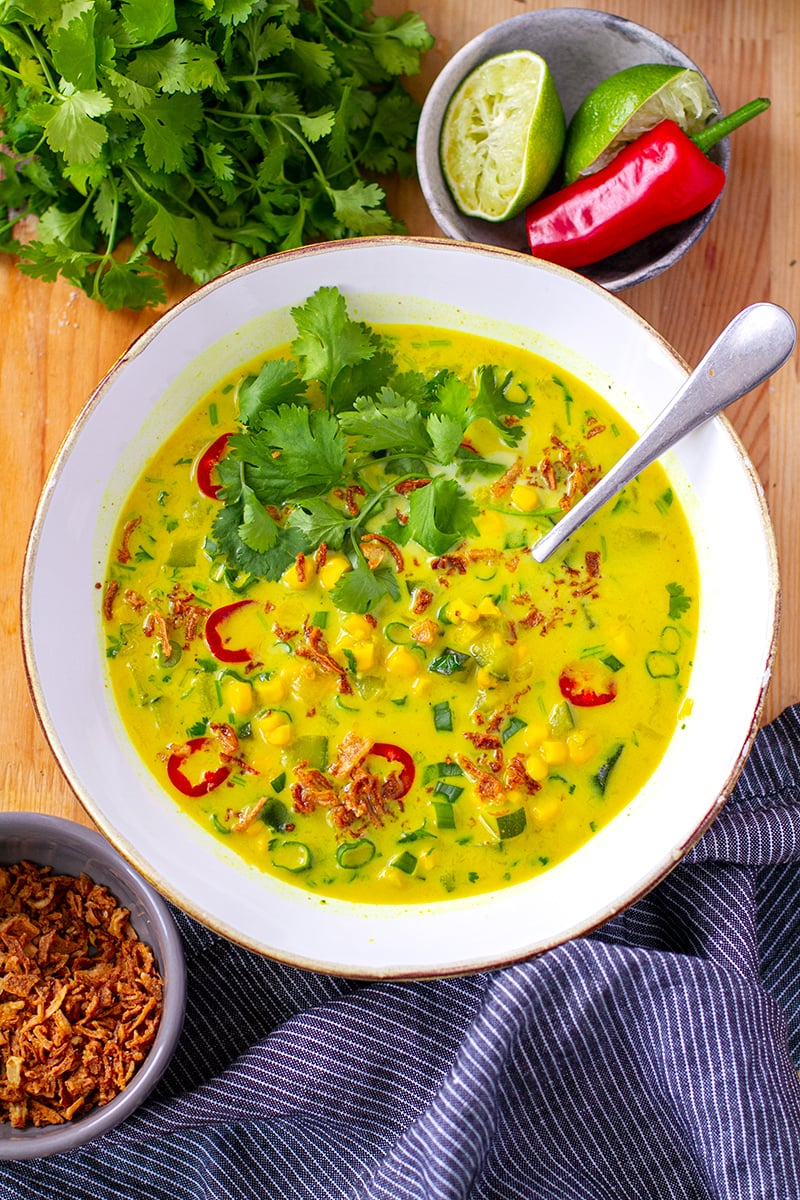 Corn Zucchini Soup Thai Instant Pot Recipe