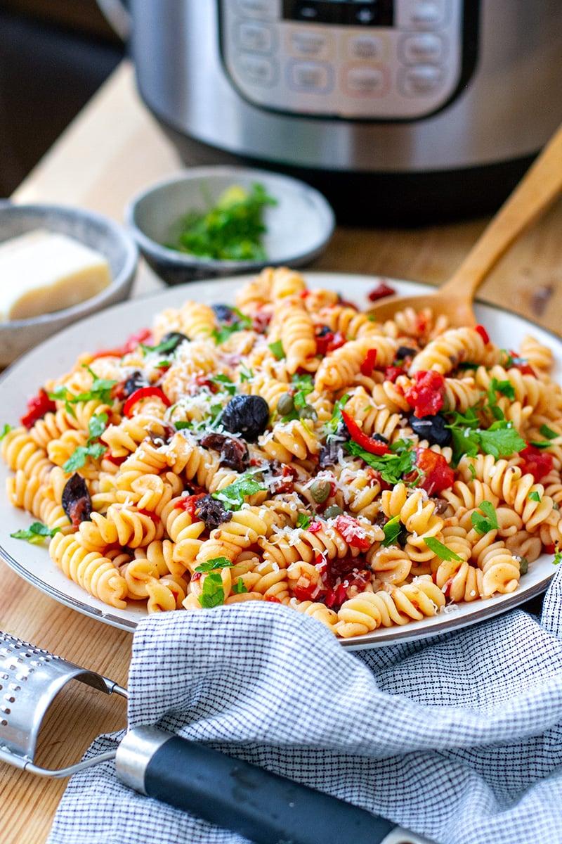 Fusilli Puttanesca Summer Pasta (Instant Pot or Stove Top)