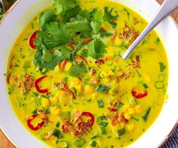 Instant Pot Thai Soup With Corn & Zucchini (Vegan, Gluten-Free)