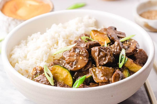 Instant Pot Hibachi Steak and Vegetables