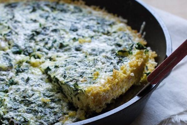 Kale Frittata Millet Crust