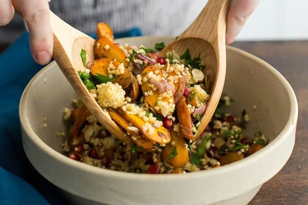 Moroccan carrot salad with millet