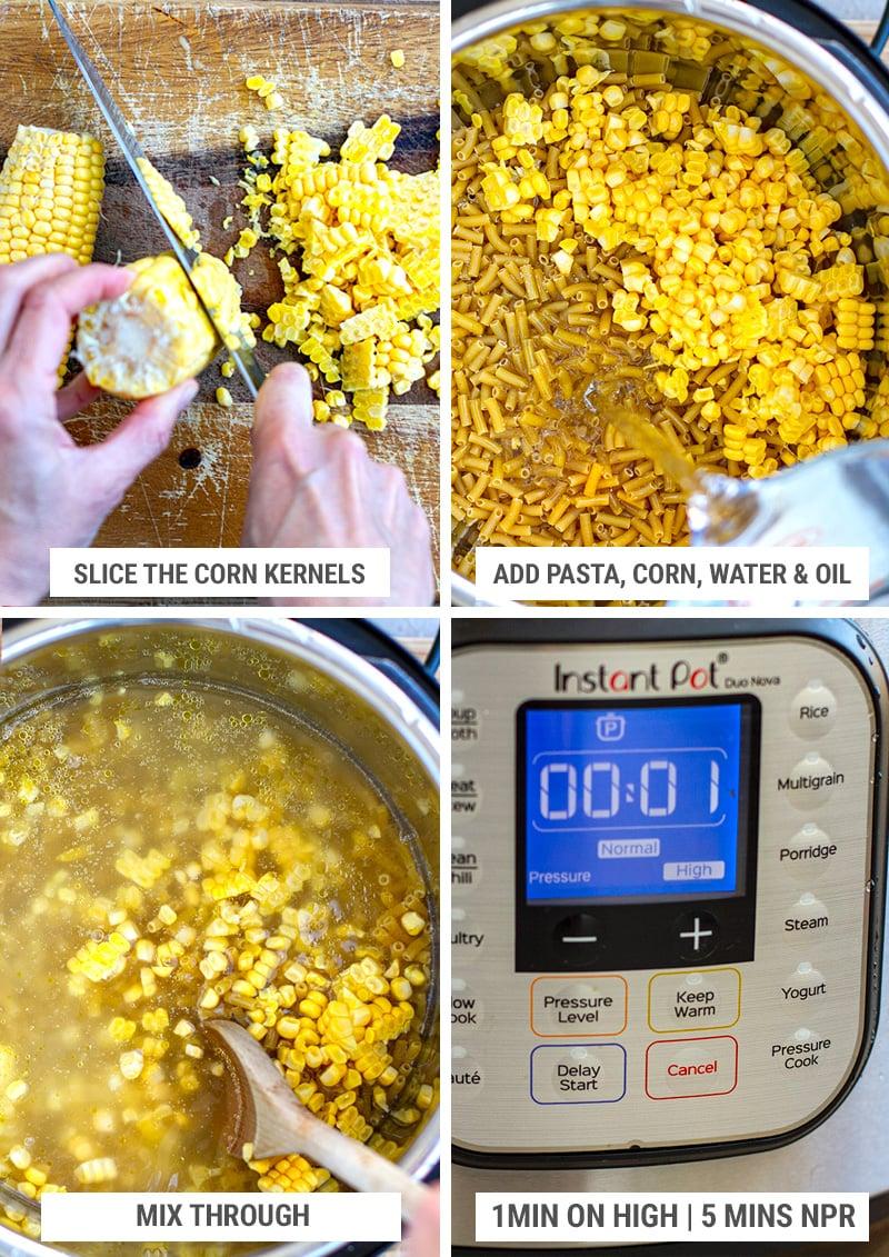 Instant Pot macaroni and corn recipe