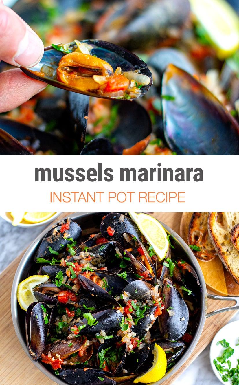 Instant Pot Mussels Marinara Recipe