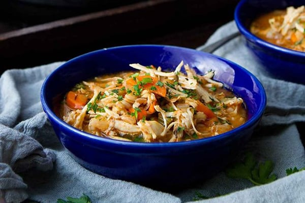 INSTANT POT CHICKEN STEW WITH FARRO