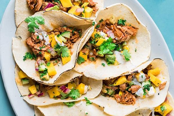 Instant Pot Jamaican Jerk Jackfruit Tacos