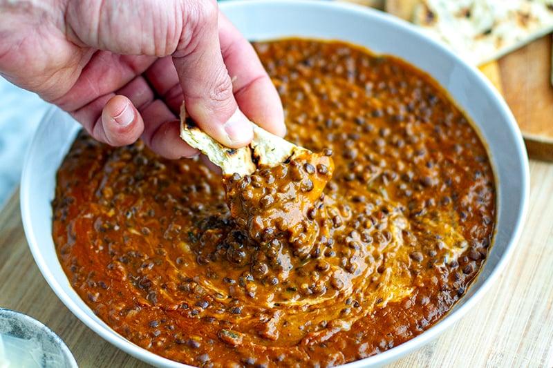 Creamy black dal in the Instant Pot recipe