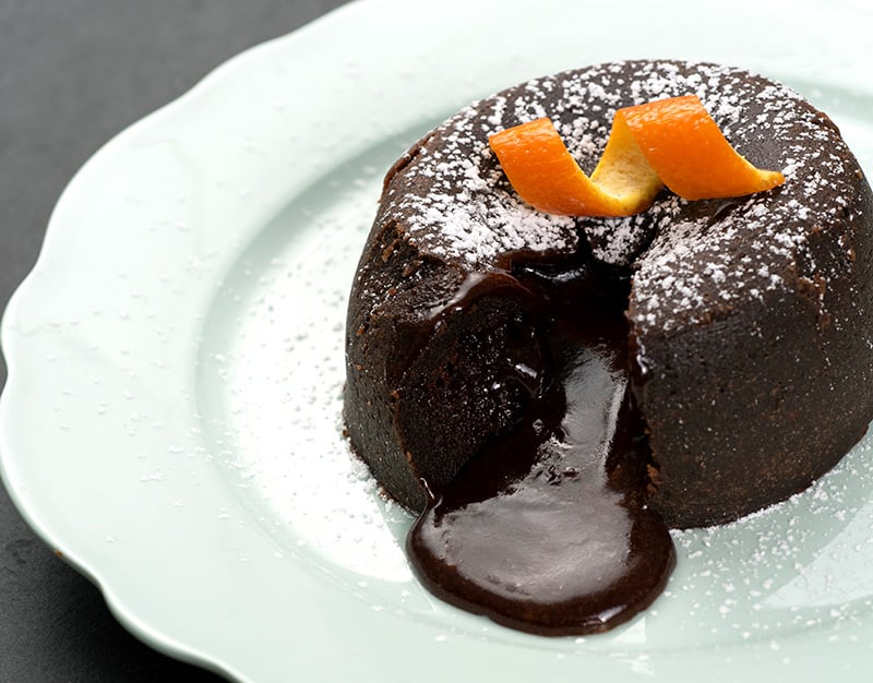 Molten chocolate lava cakes in the Instant Pot