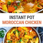 Instant Pot Moroccan Chicken With Lemons, Olives & Apricots