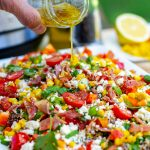 Delicious Quinoa Salad With Sweet Corn & Crispy Bacon