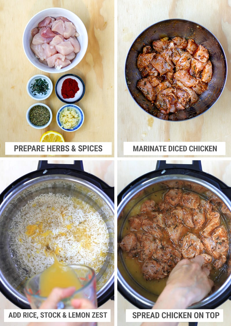 How to cook chicken souvlaki in the instant pot step 1