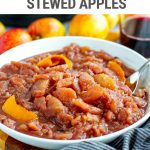 Instant Pot Mulled Wine Stewed Apples